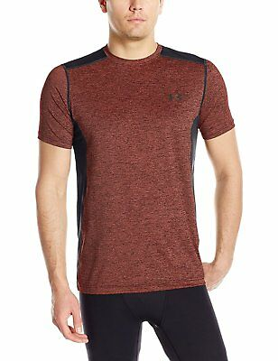 Under Armour Mens Raid Short Sleeve T-Shirt, Red/Black, X-Large