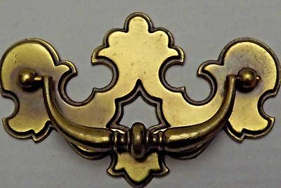 "Brass Drawer Pulls Bat Wing Style Vintage 5"" x 3 1/8"""