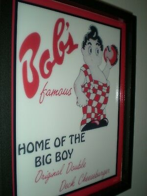 ***Bob's Big Boy Restaurant Diner Kitchen Man Cave Advertising Lighted Sign
