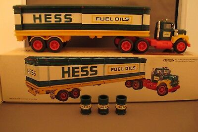 1976 Hess Truck - New - Truck, Box, Barrels, inserts and battery card