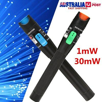 1mW 30mW Red Light Pen Visual Fault Locator Fiber Optic Laser Cable Tester Meter
