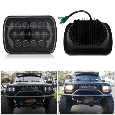 DOT Approved 85W 7x6'' LED Headlight Hi-Lo Beam Halo DRL For Jeep XJ H6014/H6054