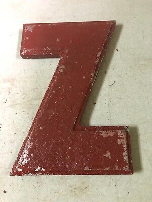 """Vintage Wagner Sign Company Cast Aluminum 8"""" Letter Z Movie Marquee"""