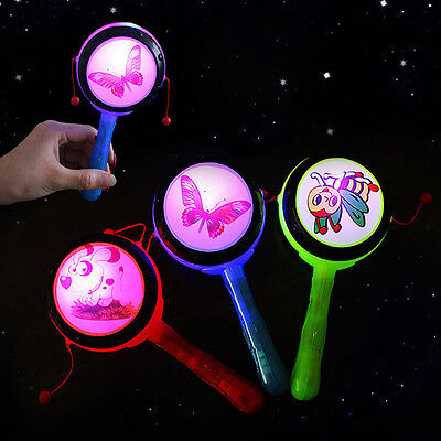 Funny LED Flashing Light Rattle Toy Baby Kids Early Childhood Education New.
