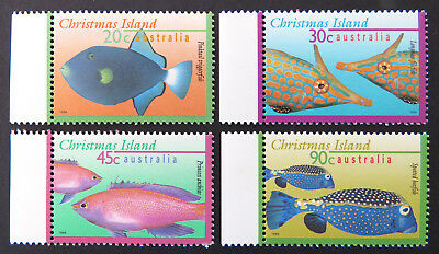 1995-1997 Christmas Island Stamps - Marine Life Definitives Pt II-Set 4-Tab MNH