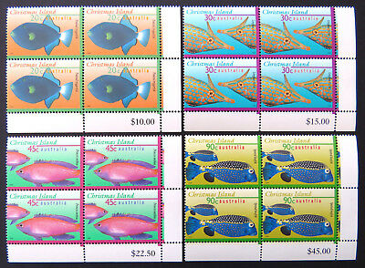 1995-1997 Christmas Island Stamps - Marine Life Definitives Pt II-Set 4x4 MNH