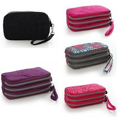 Womens Nylon Small Coin Purse Card Zipper Wallet Holder Phone Bag Clutch.~