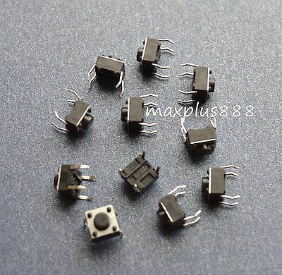 New 50pcs 6*6*5mm Tact Switch Tactile Push Button with 4 legs