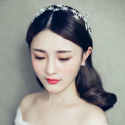 Jewelry Crystal Stars Chain Headband  Prom Crown Tiara Hair Accessory