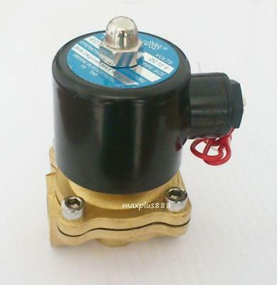 "1/2"" Brand New DC12V 2 Way 2 Position Brass Electric Solenoid Valve Water Air"