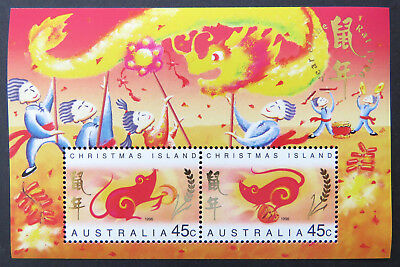 1996 Christmas Island Stamps - Lunar New Year-Year of the Rat - Mini Sheet MNH