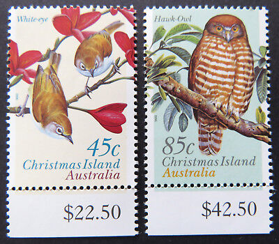 1996 Christmas Island Stamps - Land Birds - Set of 2 - Tab MNH