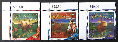 1996 Christmas Island Stamps - Christmas - Cnr Set of 3-Tabs MNH