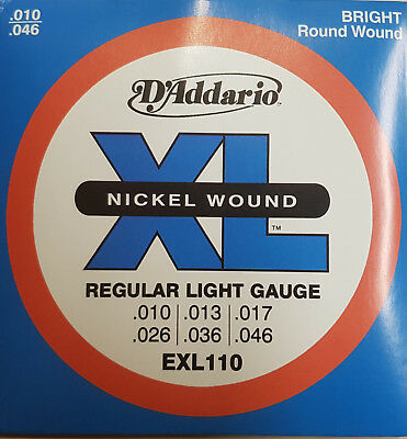 D'addario Exl110 Electric Guitar Strings 10 - 46 Regular String Set
