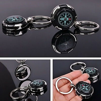 MINI Portable Sports Outdoor Camping Hiking Metal Precise Keychain Compass New.