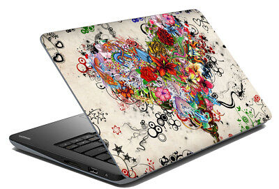"Love Heart Laptop Skin Notebook Sticker Art Cover Decal Fit's 14.1"" - 15.6"""