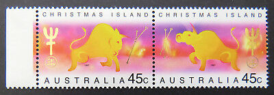 1997 Christmas Island Stamps - Lunar New Year- Year of Ox - Set of 2-Tab MNH