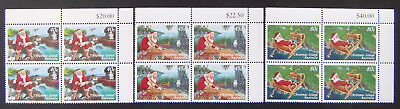 1997 Christmas Island Stamps - Christmas - Cnr Set of 3x4 - Tab MNH