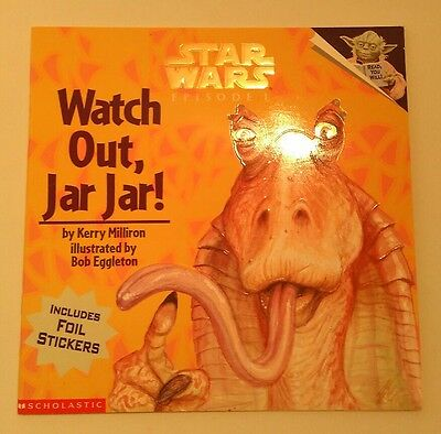 """STAR WARS Episode 1 - """"Watch Out Jar Jar!"""" - picture book with stickers NEW!"""