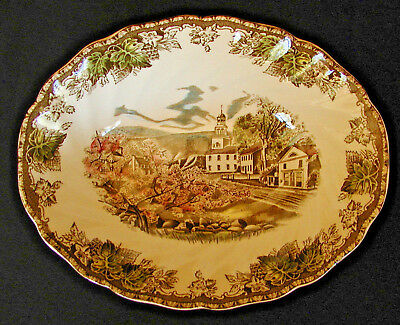 Johnson Brothers Friendly Village - England - 9 Inch Oval Vegetable Bowl