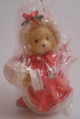 Cherished Teddies 1993 Girl with Muff Christmas Ornament NEW 912832 Alice