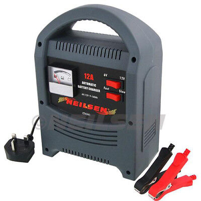 12A 12 Amp 6v/12v 2200cc+ Car Van Boat Motorcycle Battery Charger