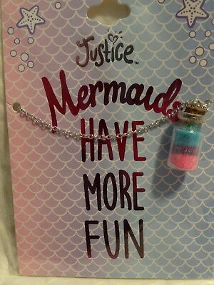 "Justice Girls ""Mermaids Have More Fun"" Necklace  NEW"