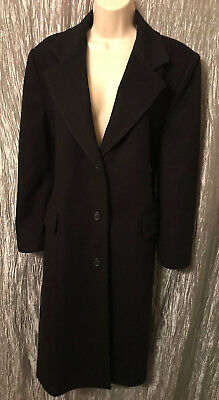 Continental Airlines Flight Attendant Stewardess Wool Uniform Midi Coat Size 12P