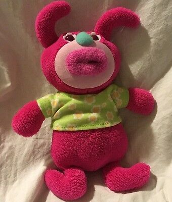 Fisher Price 2010 Pink Sing A Ma Jig Mattel Talking Singing Plush Green Shirt