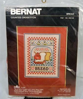 Bernat Counted Cross Stitch Kit Bread Complete