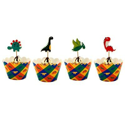 DINOSAUR cup cake wrappers toppers Invitation Card decorations