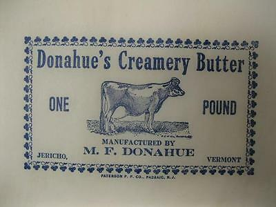 Donahues Creamery Butter Wrappers Jericho Vermont Milk Cow Paper Print