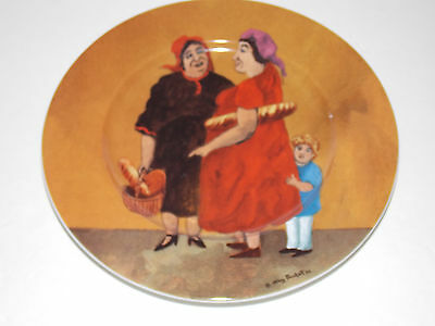 Set of Six TUSCAN STOREFRONTS Dessert Plates by Guy Buffet - Germany