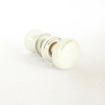 antique white porcelain brass door knobs doorknob set art deco vintage 20s 1920s