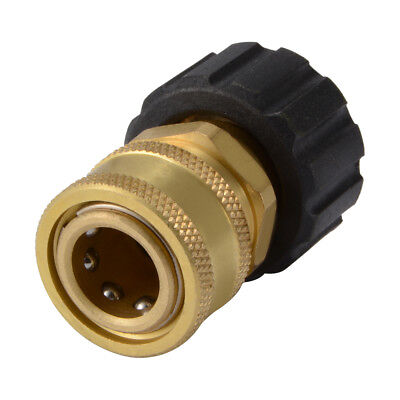 "Brass Pressure Washer M22 3/8"" Quick Coupler Disconnect Socket 4000PSI HS1110"