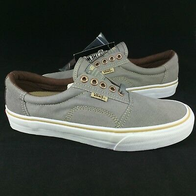 711f5707f2 New Vans Rowley Solos Pro Size 7.5 Men Medium Grey Brown Suede Canvas Skate  Shoe