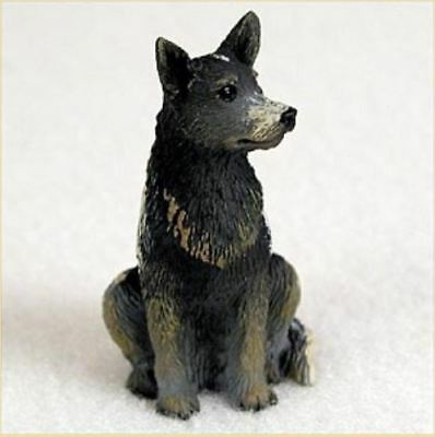 AUSTRALIAN CATTLE DOG TINY ONES DOG igurine Statue Pet Gift Resin BLUE
