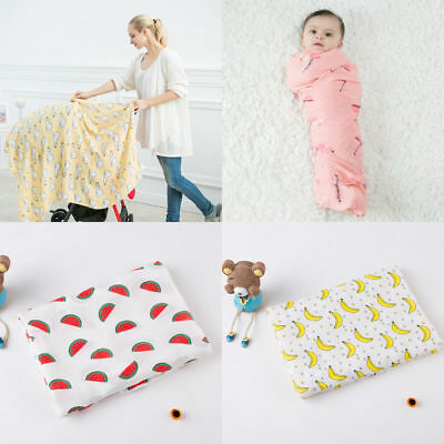 Miracle Baby Pure Bamboo Baby Muslin Swaddle Blanket Square Newborns 120*120cm
