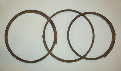 Old antique vtg 19th C 1850s Bent Wooden Hoops Set 3 Great for Decorator nice