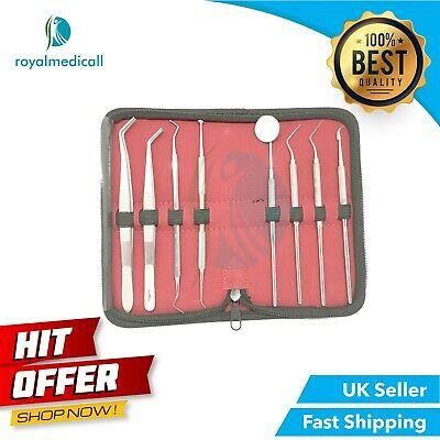Hygiene Tartar Removal Examination Kit Heidmann Sickle Scaler Probes Explorer