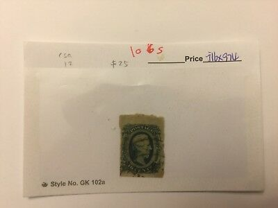Us Csa Confederate Stamp #12 Used #106S