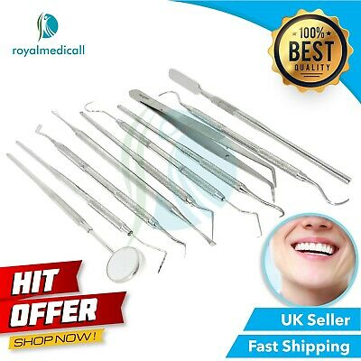 Professional Dentists Oral Hygiene tools Examination Kits Probes Tooth Scraper