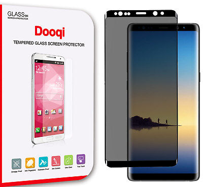 Dooqi Privacy Tempered Glass FULL COVERAGE For Samsung Galaxy Note 8 S8 Plus S8