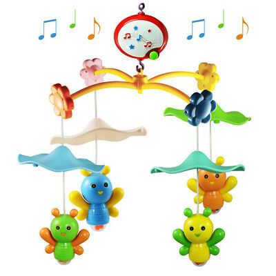 Baby Nursery Mobile Wind up Musical Box Lullaby Sounds Crib Bell Holder Cot Toys