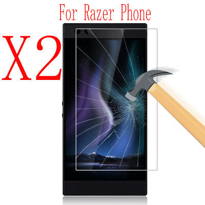2xAnti-Scratch 9H Hardness Tempered Glass Screen Protector Film For Razer Phone