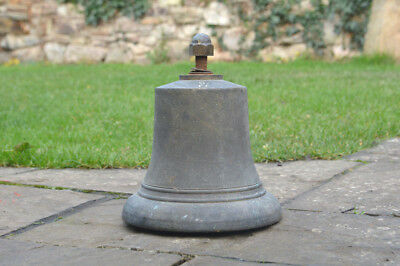 Queen Elizabeth large brass Bell E.R.1952. 'Green Goddess' Fire  - FREE DELIVERY