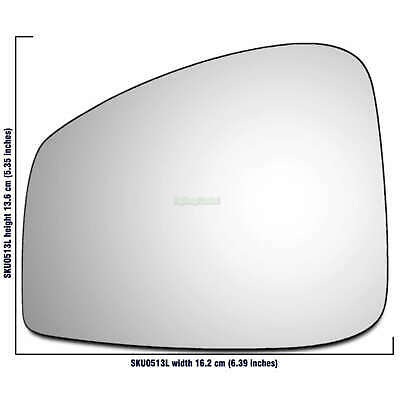 Right Side Covex Wing Mirror Glass For Nissan Qashqai 2013 To 2017