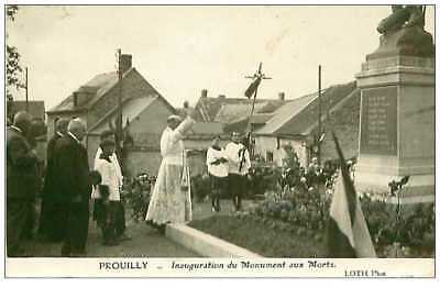 51.prouilly.n°154.inauguration Du Monument Aux Morts.cp Photo.rare