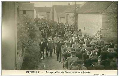 51.prouilly.n°151.inauguration Du Monument Aux Morts.cp Photo.rare