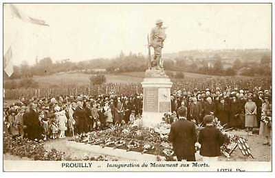 51.prouilly.n°131.inauguration Du Monument Aux Morts.27 Sept 1925.rare
